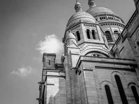 Domes of Sacre Coeur black and white copy