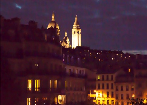 Sacre-Coeur from Magenta Avenue, Paris